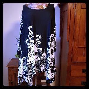 Black & White Long Sleeved Tunic